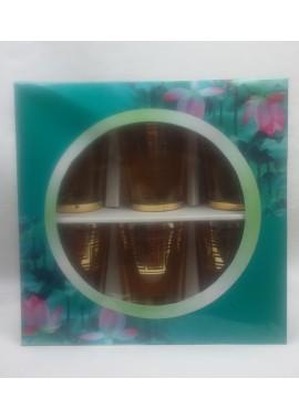 6 verres à thé Glassware