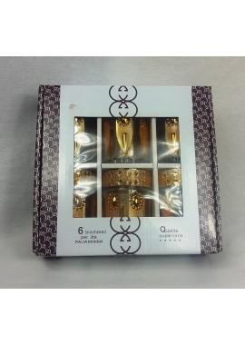 """6 verres à thé Italia design motifs doré"""
