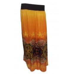 jupe longue couleur flamme